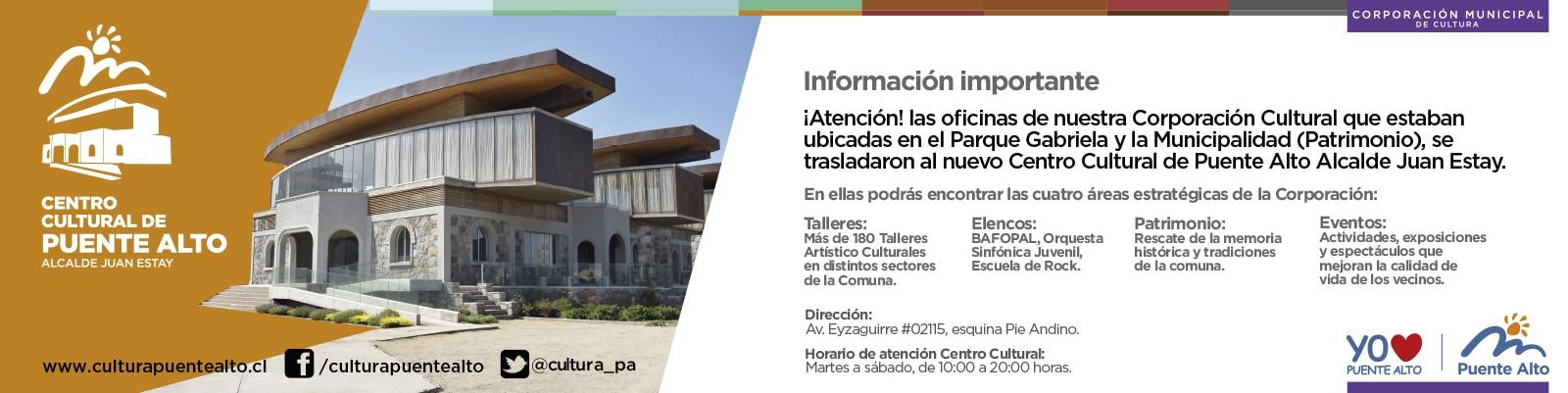 Nuevas oficinas de la Corporación Cultural Municipal de Puente Alto.