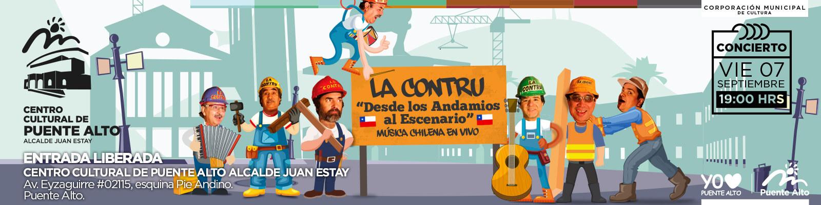 """""""La Contru"""": desde los andamios a Puente Alto."""