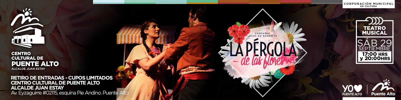 """""""La Pérgola de las Flores, el musical"""" en el Centro Cultural de Puente Alto."""
