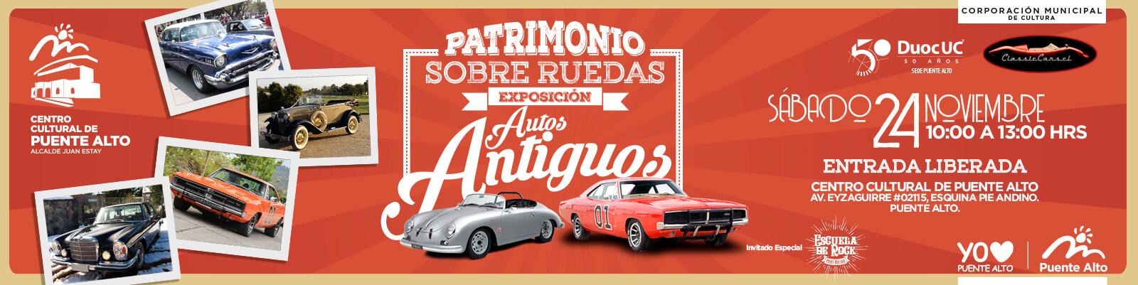 Patrimonio Sobre Ruedas: exposición de autos clásicos y antiguos.