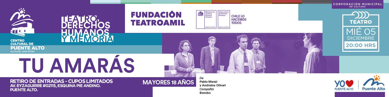 """Teatro: """"Tú Amarás""""."""