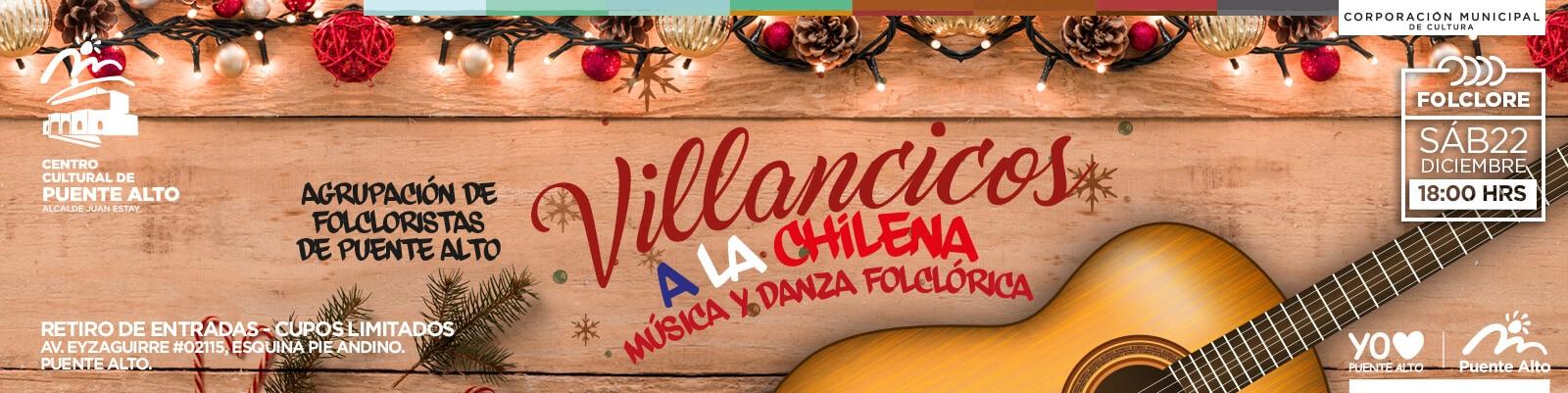 Todos invitados a cantar con Villancicos a la Chilena.