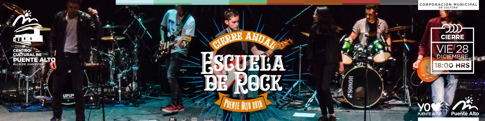 Cierre de Talleres Escuela de Rock 2018.