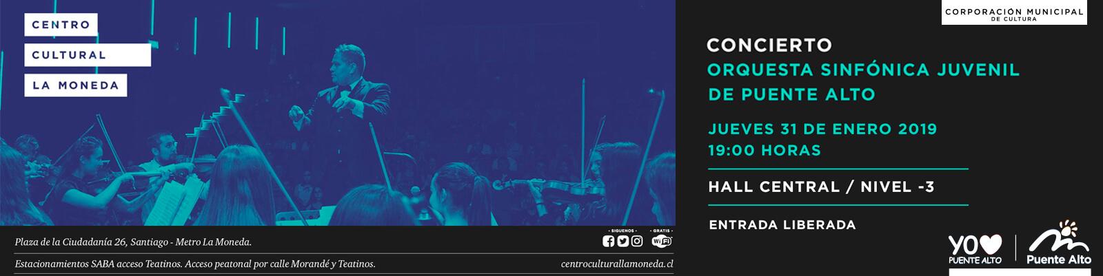 Nuestra Orquesta Sinfónica Juvenil se presentará en el Centro Cultural La Moneda.