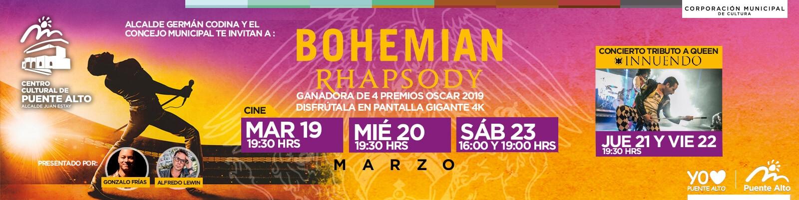 Semana dedicada a Queen en el Centro Cultural de Puente Alto.