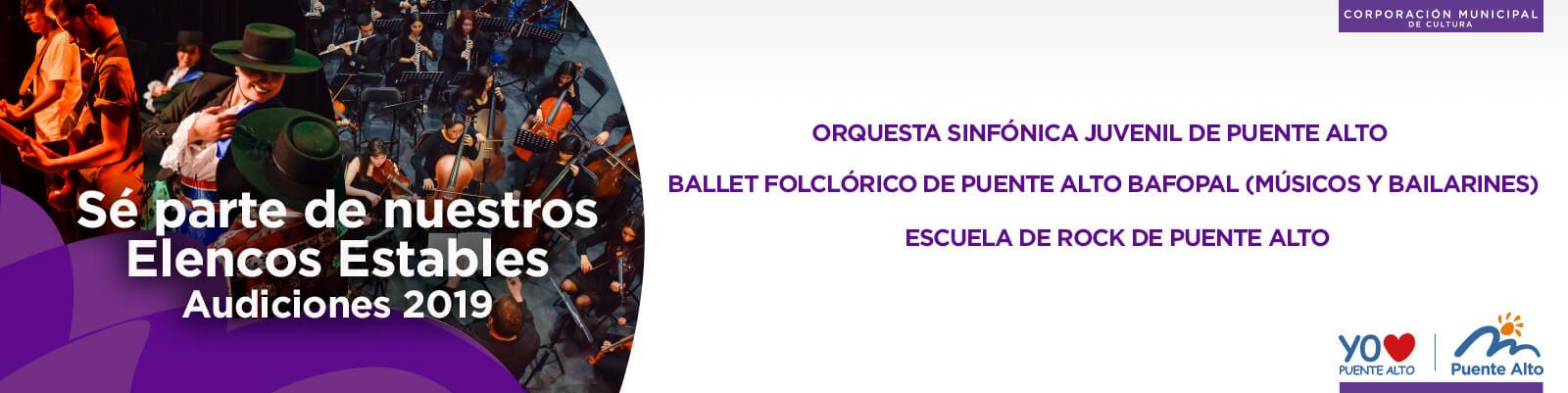 Audiciones Elencos Estables 2019.