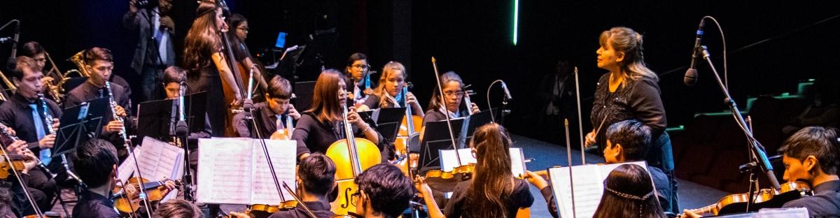 Desde el norte, recibimos la visita de la Orquesta Sinfónica Infantil- Juvenil de Pica.