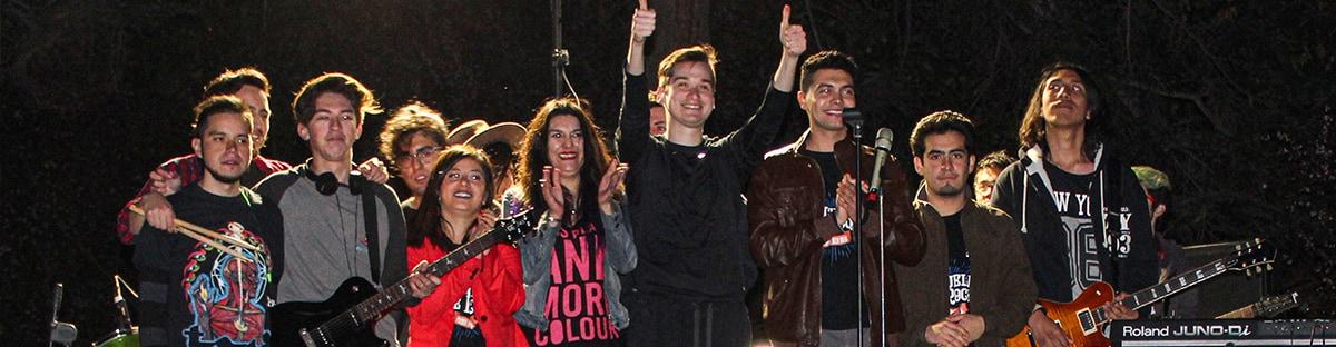 Exitosa presentación de nuestra Escuela de Rock de Puente Alto en Primavera Rock.