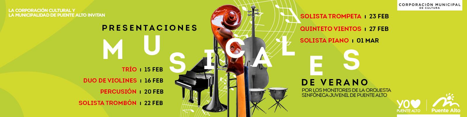 Disfrutemos de hermosas sinfonías con las Presentaciones Musicales de Verano