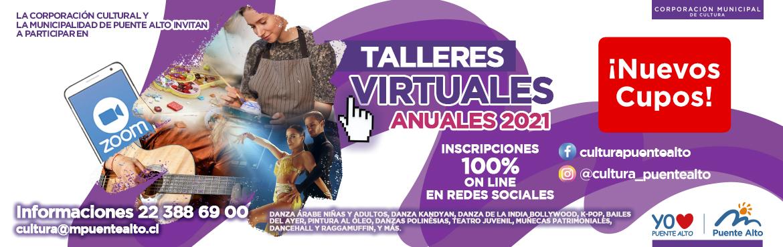 Banner Noticias y Eventos de la Corporación Cultural de Puente Alto