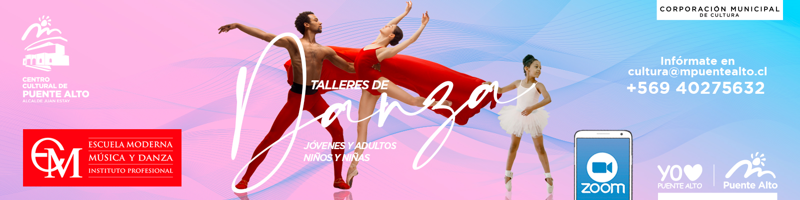 Todos a participar en los nuevos Talleres Virtuales de Danza